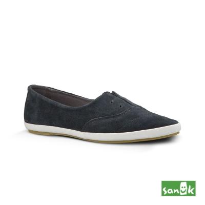SANUK 麂皮尖頭休閒鞋-女款(深灰色)
