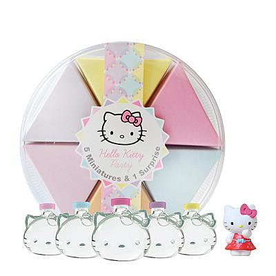 Hello Kitty 派對蛋糕淡香水禮盒 (小香 5ml × 5入+ Kitty 公仔)