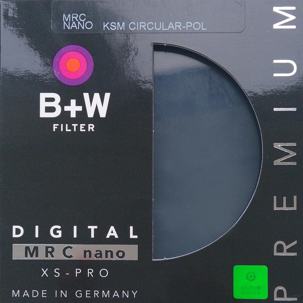 B+W 凱式超薄奈米鍍膜偏光鏡(52mm)
