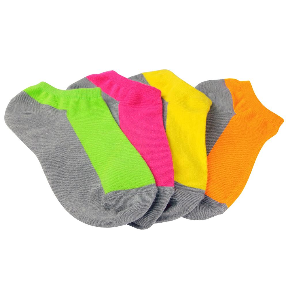 源之氣 竹炭鮮彩船型襪/男女共用 (12雙組)四色混搭 RM-30008