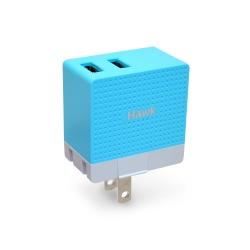 Hawk 2.4A雙USB電源供應器 積木旅充頭