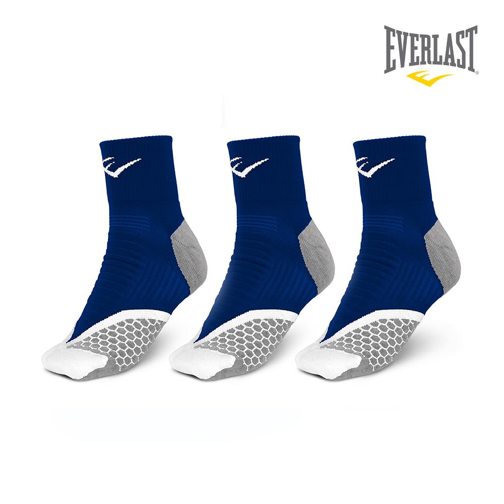 EVERLAST 美國運動品牌-棉質運動中長襪三件組-女