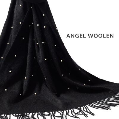 Angel-Woolen-絕世名伶100-Cashmere印度手工珠光流蘇披肩-圍巾