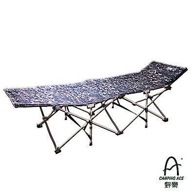 【台灣 Camping Ace】限量迷彩 新款耐重型快速可搭建行軍床