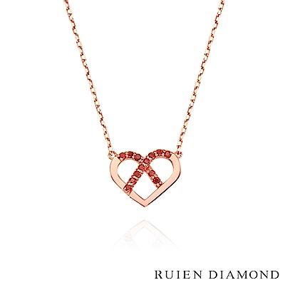 RUIEN DIAMOND 韓國輕珠寶 飾品 配件14K玫瑰金 項鍊 LN150