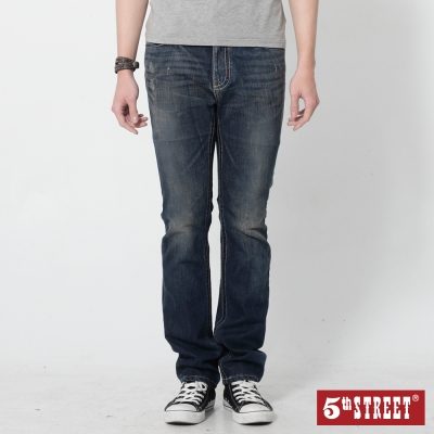 5th STREET 粗曠印象1965直筒牛仔褲-男-洗綠