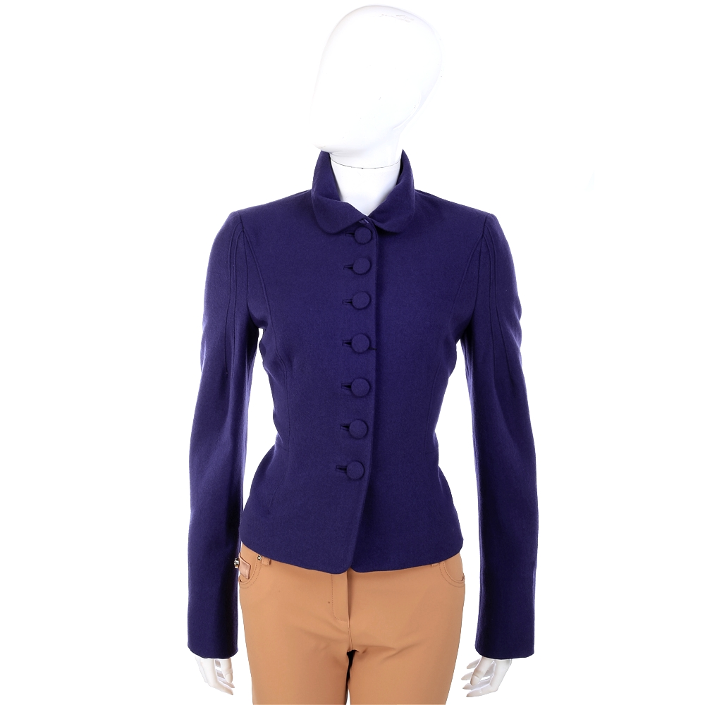 ALBERTA FERRETTI  藍紫色毛料外套