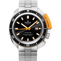 EDOX Hydro Sub 北極潛水500米機械腕錶-黑x橘/46mm