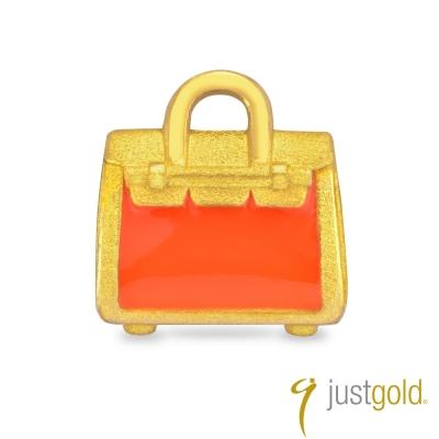鎮金店Just Gold 黃金單耳耳環 繽紛派對 柏金包