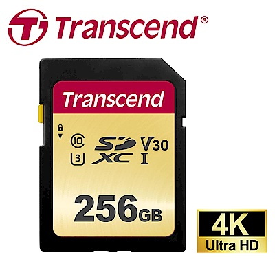 創見 256GB 500S SDXC UHS-I U3 V30 記憶卡