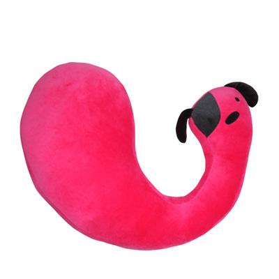 Yvonne Collection狗狗彎形抱枕-莓紅