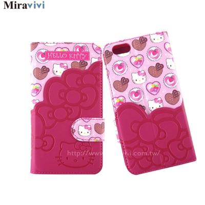 Sanrio三麗鷗iPhone 6 /6s口袋拼接彩繪皮革筆記本式皮套