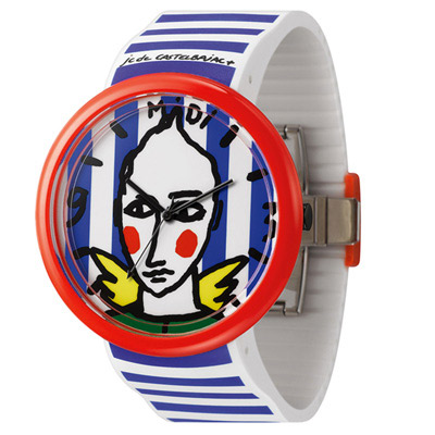 o.d.m. Time Gallery 時光畫廊系列腕錶-藍白/40mm