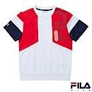 FILA KIDS 童吸濕排汗上衣-白1TES-4400-WT