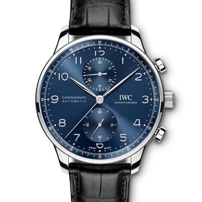 IWC 萬國 IW 371491  大葡萄牙計時腕錶藍面- 41 MM