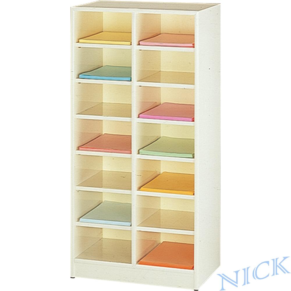 NICK B4雙排南亞舒美塑鋼資料櫃(十四層)