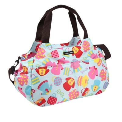 日本Hanna Hula-棉花糖二用媽媽包/空氣包(洋裝藍)
