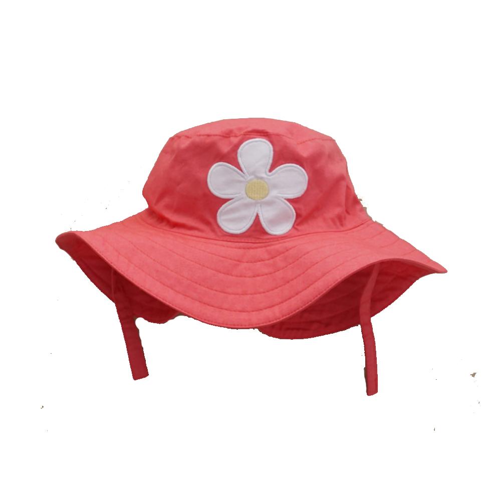 春夏兒童花朵大檐盆帽