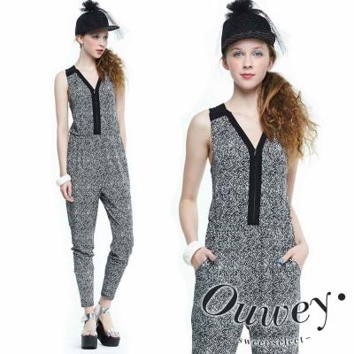 OUWEY歐薇 拉鍊造型俐落連身褲裝