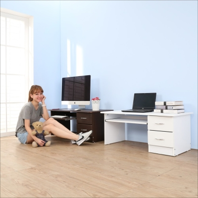 BuyJM 低甲醛防潑水二抽和室電腦桌/工作桌-DIY
