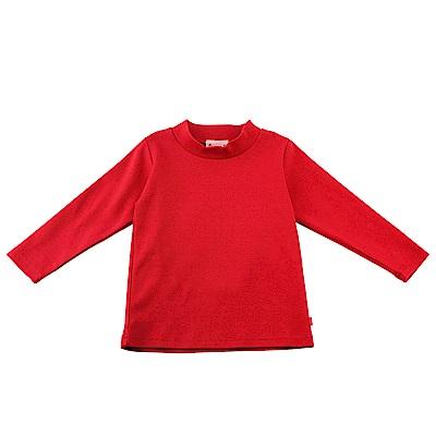 愛的世界 SUPERMINI 彈性長袖套頭衫-紅色/10~12歲