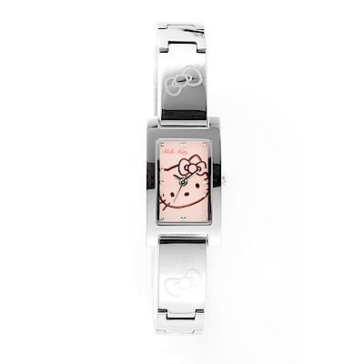 HELLO KITTY 凱蒂貓秀氣質感流行手錶-銀x粉紅/19mm