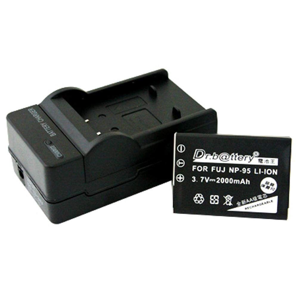 電池王 Fujifilm NP-95 高容量鋰電池+充電器組