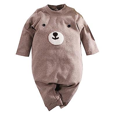 可愛熊厚棉連身衣 咖啡 k60625 魔法Baby