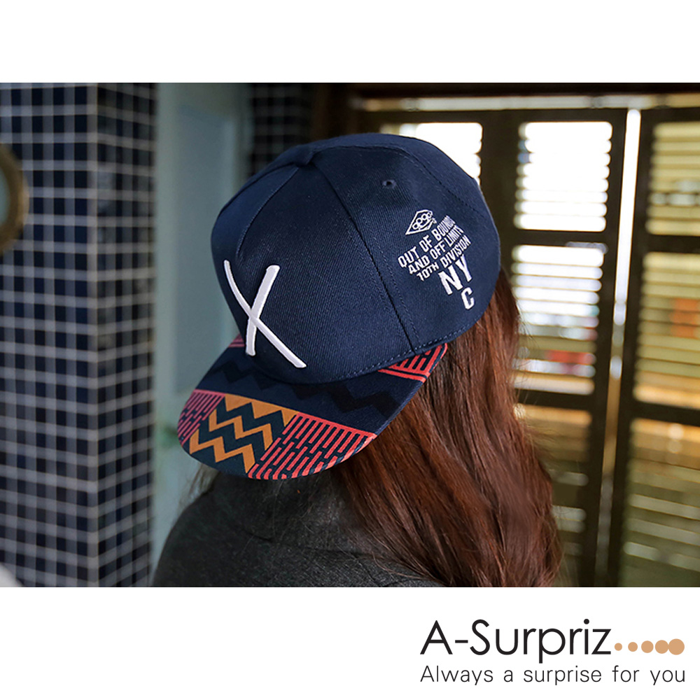 A-Surpriz 街頭X民族混搭風棒球帽(深藍)