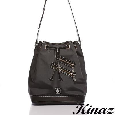 KINAZ-navy-輕鬆旅行斜背水桶包-超輕量系列-特賣品