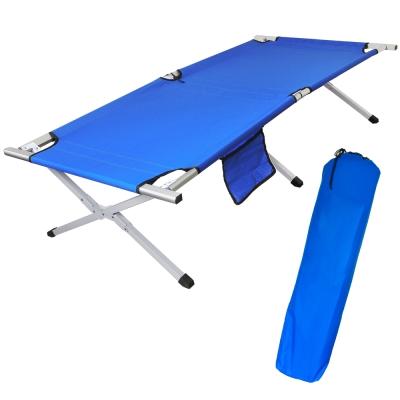 戶外便攜加大加寬鋁合金行軍床 折疊床(附收納袋)