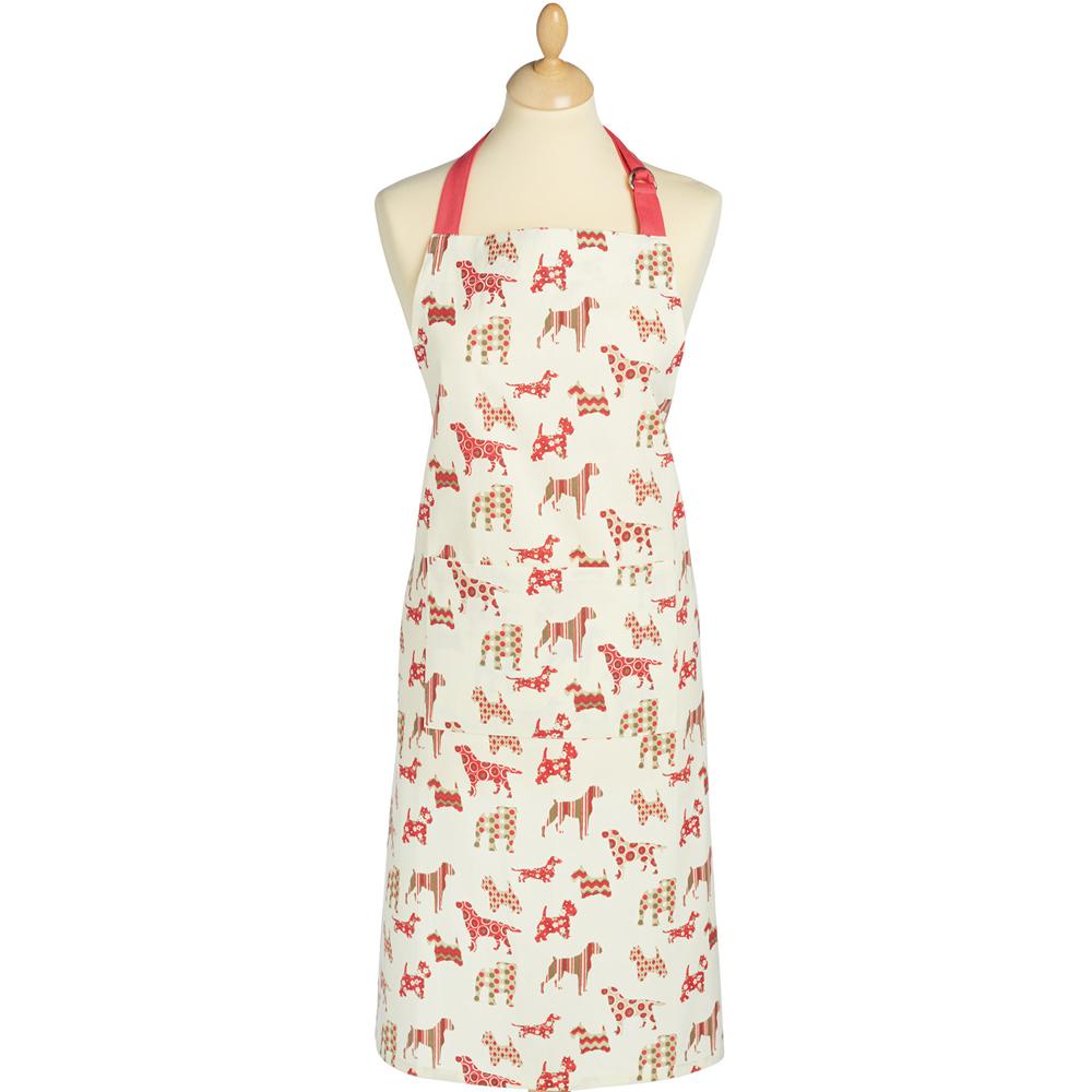 KitchenCraft 平口單袋圍裙(花布狗)