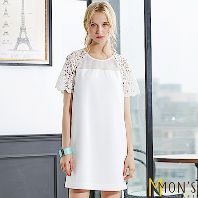 MONS 時尚蕾絲鏤空洋裝