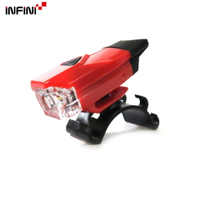 【INFINI】MINI LAVA I-261W 白光LED警示燈4模式前燈/台灣製-紅色