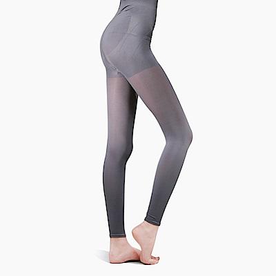 足下物語  台灣製熱感應280丹美臀纖腰內搭褲S-XL灰色(昇溫6°C)