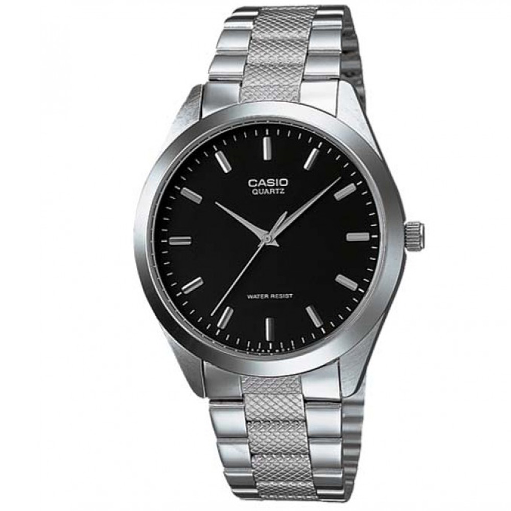 CASIO 富豪金銀時尚指針紳士腕錶(MTP-1274D-1A)-黑/36mm