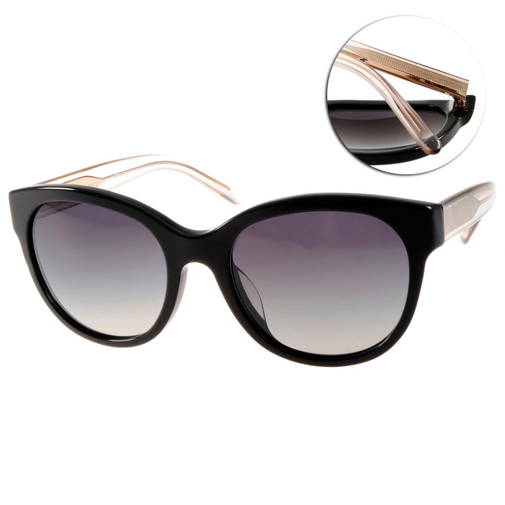 BURBERRY太陽眼鏡 歐美貓眼款/黑#BU4187F 35078G