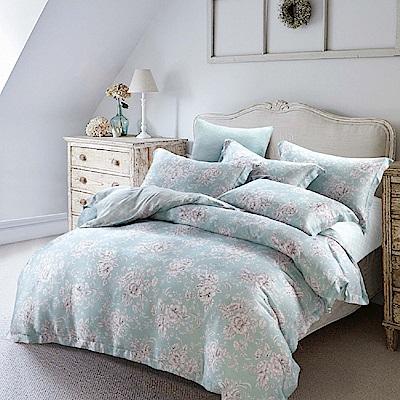 Saint Rose 韻瑤-綠 加大100%純天絲兩用被套床包四件組