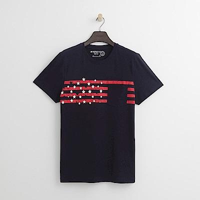 Hang Ten - 男裝 - 有機棉 美國搖滾T恤-深藍色
