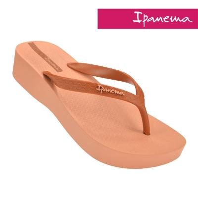 IPANEMA-心機原色楔型厚底拖鞋-粉