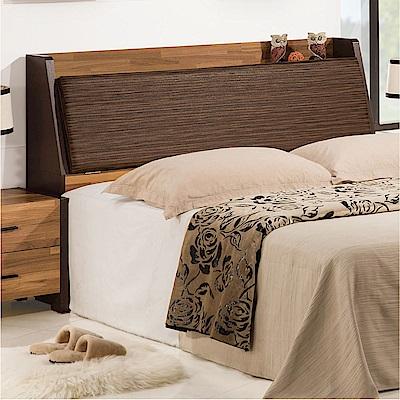 品家居 史崔西6尺皮革雙人加大床頭箱-181.9x30.3x102.3cm免組