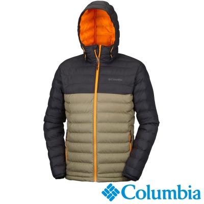 Columbia哥倫比亞  男款-化纖保暖連帽外套-黑棕 UWE11510BW