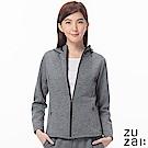zuzai 自在暖煦系列 極輕羊毛休閒外套-女-灰色(情人節送禮推薦)