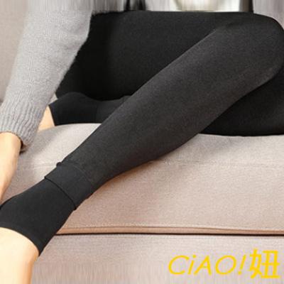 超保暖加厚內刷毛踩腳內搭褲 (灰色)-CiAO妞