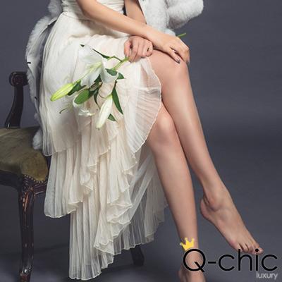 多層次百摺蛋糕長裙紗裙 (共四色)-Q-chic
