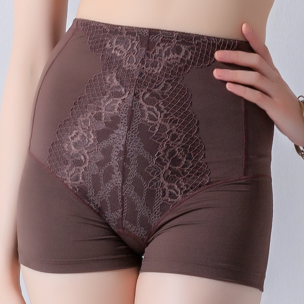 思薇爾 塑美波系列輕機能高腰短筒四角束褲(醇品褐)