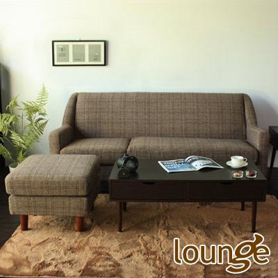 Lounge長秦 愛德華英倫風L型沙發-咖啡色