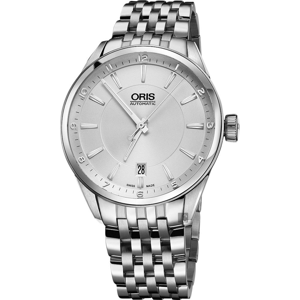 ORIS豪利時 ARTIX DATE 日期機械錶-銀/39mm