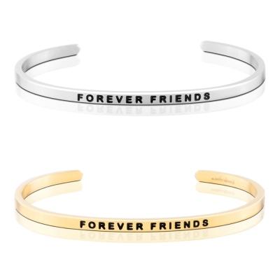 MANTRABAND Forever Friends 一輩子的好朋友 銀X金 手環組