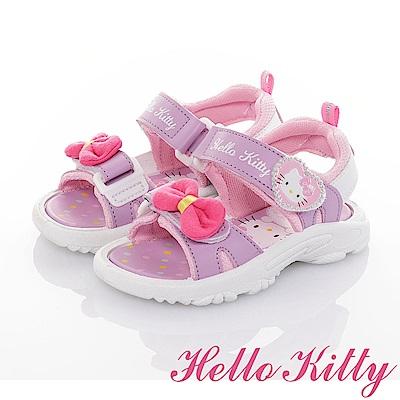 HelloKitty童鞋 輕量減壓休閒涼鞋-紫
